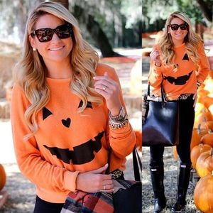 Sweaters - Halloween Jack O Lantern Pumpkin Long Sleeve Shirt